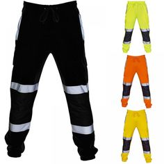 Road Work High Visibility Casual Pocket Pants //Price: $11.75 & FREE Shipping // #girls #model #pretty Cycling Trousers, Sports Trousers, Slim Fit Trousers, Sport Pants, Trouser Pants, Fall Pants, Fashion Pants, Fashion Men, Jogger Sweatpants