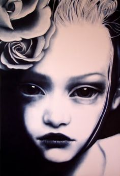 """""""She was carefully attended by pale little girls with large baby doll eyes and identical expressions of sadness."""""""