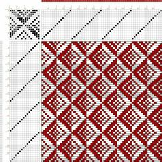 draft image: 16 zu Old German Pattern Book, Untitled and Unbound, Weaving Designs, Weaving Projects, Weaving Patterns, Mosaic Patterns, Knitting Designs, Knitting Patterns, Loom Yarn, Loom Weaving, Hand Weaving