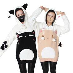 "Cute cat hoodie pullover SE9607    Coupon code ""cutekawaii"" for 10% off"