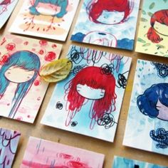 Create a series of tiny paintings! An artist's exercise.