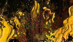 Fire in the woods by Mark Janssen