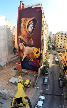 In Beirut, painters support themselves doing commercial street art, and work within legal rules to engage liberally in graffiti. 3d Street Art, Murals Street Art, Best Street Art, Amazing Street Art, Art Mural, Street Art Graffiti, Graffiti Artwork, Main Street, Banksy