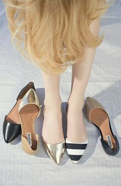 Halogen® 'Kayla' d'Orsay Flat | Nordstrom- gorgeous flats but I wonder if they stay on very well