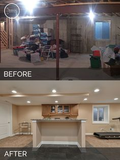 Plainfield Before U0026 After Basement Finish Project   Sebring Services