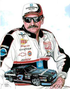 Dale Earnhardt #3 Monte Carlo.  #DaleEarnhardtArt http://www.pinterest.com/jr88rules/dale-earnhardt-art/