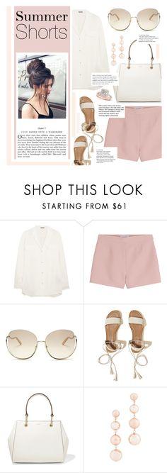 """Summer Shorts"" by karolinapl ❤ liked on Polyvore featuring Bottega Veneta, Valentino, Chloé, Hollister Co., DKNY, Rebecca Minkoff, Allurez and Tiffany & Co."