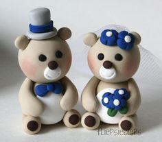 Custom Bear Wedding Cake Topper by fliepsiebieps on Etsy, $61.00