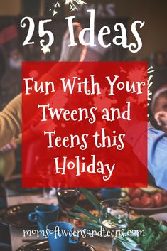 25 Holiday Family Fun Ideas to Enjoy with Your Tweens and Teens (when they dont want to hang out with you) One of my main goals every Christmas is to find one or two activities that create a little laughter and that my family can enjoy together. Christmas Activities For Families, Activities For Teens, Holiday Activities, Family Activities, Family Games, Summer Activities, Christmas Things To Do, Christmas Fun, Christmas Parties