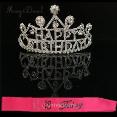 Happy Birthday Crystal Tiara Crown Headband Girls Party Favors Rose Satin Sash 18 Today Gift. Yesterday's price: US $11.39 (10.13 EUR). Today's price (December 28, 2018): US $11.53 (10.28 EUR). Discount: 18%. #Festive #Party #Supplies #happy #today Happy Birthday 18th, Michael Roberts, Girls Crown, Satin Sash, Happy Today, Crown Headband, Tiaras And Crowns, Festival Party, Party Supplies