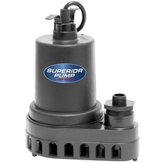 Superior Pump 91570 1/2 hp Thermoplastic Submersible Utility Pump