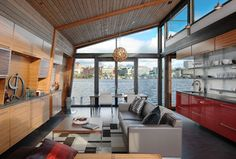 Gorgeous sunlit, open living space. Container worthy. Storage space on walls doubles as added insulation.