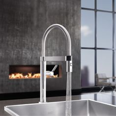 The Culina Mini Pull Down Kitchen Faucet offers refined utility for modern kitchens. http://www.ybath.com/blanco-culina-mini-pull-down-kitchen-faucet.html