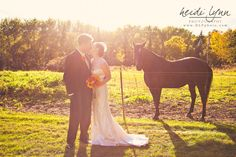 The horse would not look away.  Haha!  #minnesota #wedding
