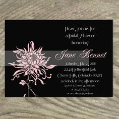 Wedding Invitations or Save The Date - Fabulous Asian Chrysanthemum $13.50 https://www.etsy.com/listing/68668716/wedding-invitations-or-save-the-date#