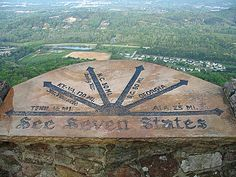 View 7 States from Rock City - in Chattanooga, Tennessee