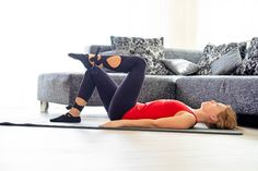 pilates cvičenie Pilates, Health Fitness, Couch, Furniture, Medicine, Settee, Medical, Couches, Sofa