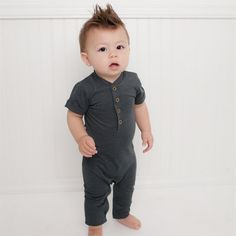 Ambitious Baby Gap Chambray Polka Dot Romper 1969 6-12 Months Various Styles Girls' Clothing (newborn-5t) One-pieces