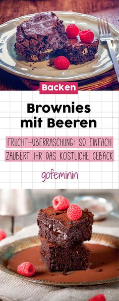 Brownies mit Beeren: So einfach zaubert ihr das köstliche Gebäck