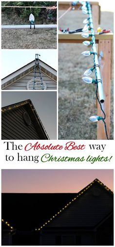 Hanging Exterior Christmas Lights