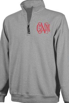 Charles River Quarter Zip Sweatshirt (Men's Cut), Oxford Heather #9359 *Personalize It!