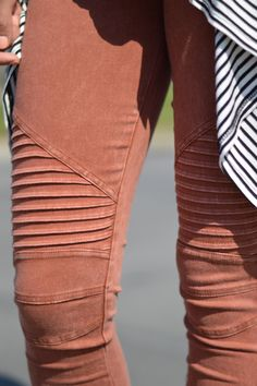 Rust Jeggings. Foi's best selling Jegging. 95% cotton 5% spandex. Rust orange colored jeggings. Fall jeggings. Jean/Leggings. Fall Fashion from Foi Clothing.