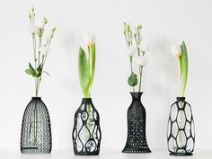 These 3D Printed Vases Upgrade Plastic Bottles to Art