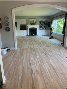 Grey Wall Color, Blue Grey Walls, Cottage Interiors, Cottage Homes, Picture Arrangements On Wall, Basement Built Ins, Sanding Wood, Moving Furniture, Diy Flooring
