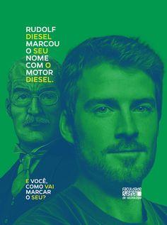 Faculdade Senai | Vestibular Inverno | Rudolf Diesel on Behance