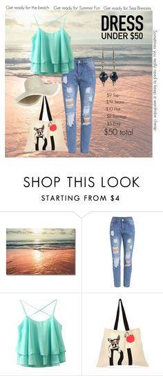 """$50 Beach Outfit"" by uniquecreationsbyamy ❤ liked on Polyvore featuring River Island, beach, casualoutfit and under"
