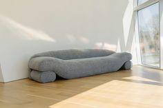 NEA Studio Designed the Beanie Sofa out of Lentils - Design Milk Modern Daybed, Modern Sofa, Wood Sofa, Wicker Sofa, Modern Bean Bags, Piano, Minimalist Sofa, Bean Bag Sofa, Lentils