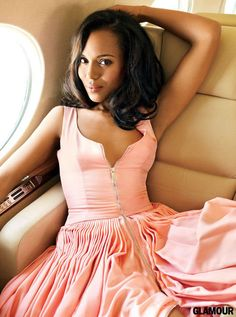 Kerry Washington's Glamour October Issue Cover-Shoot Christian Dior dress Sarah Jessica Parker, Blake Lively, Jennifer Aniston, Beautiful Black Women, Beautiful People, Pretty People, Beautiful Ladies, Christian Dior, Meagan Good