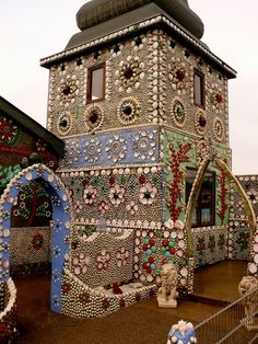 Mosaic tile house, Barcelona, Spain.