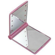 Make-up spiegel incl LED lamp Roze.