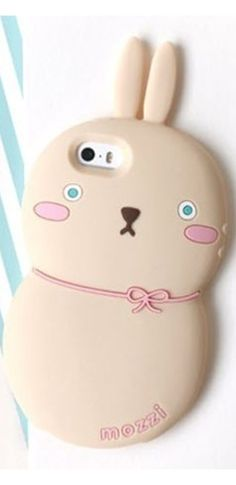 Beige Rabbit Silicone Iphone Samsung Phone Case Cover