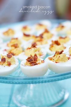 smoked bacon deviled eggs easter recipe