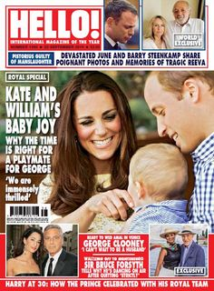 Magazine issue Royal special: Kate and Williams baby joy - Why the time is right for a playmate for Georg. Camilla Duchess Of Cornwall, Duchess Of Cambridge, Magazine Front Cover, Magazine Covers, World Balance, Bruce Forsyth, Generation Game, Hello Magazine, Royal Christmas