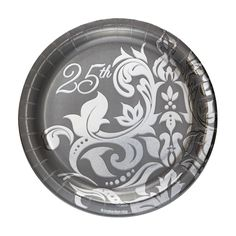 Item PS-417396M - Silver Anniversary 7\  Lunch Plates Foil (180 Each  sc 1 st  Pinterest & Ruby 40th Anniversary Paper Dinner Plates | Shops Paper and 40th ...