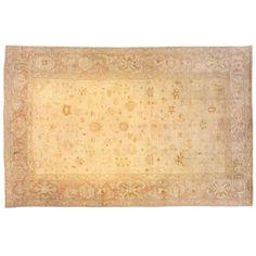 Antique Turkish Oushak Oriental Carpet