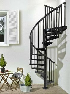 Fontanot Sky030 escalier en colimaçon d'extérieur galvanisation à chaud et peinture en poudre