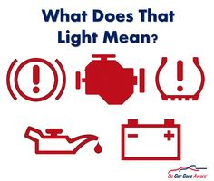 5 common vehicle dashboard maintenance lights and their meaning.