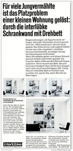Original-Werbung/ Anzeige 1969 - INTERLÜBKE SCHRANKWAND- ca. 110 x 240 mm
