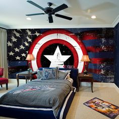 captain america bedroom - Google Search