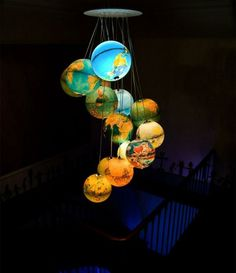 Eine neue Deckenlampe aus einem alten Globus | lampen | Pinterest ...