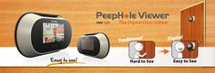 Brinno PeepHole PeepHole Viewer use an LCD panel to display who is knocking on your door, it turns a hard to see PeepHole image into a big bright image. Really Cool Gadgets, Door Viewers, Shutter Doors, Diy Network, Cool Technology, Gadgets And Gizmos, Safety Tips, Low Lights, Security Camera