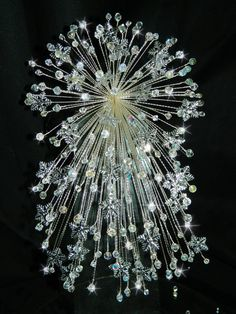 Made with Swarovski Elements & real Preciosa cut lead crystals beads Crystals    Perfect for your christmas or winter wedding and for long