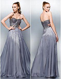 A-line Sweetheart Floor-length Tencel Evening Dress – AUD $ 178.10