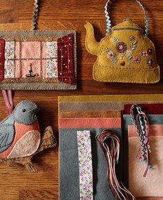 Winter Cabin Ornament Set Kit