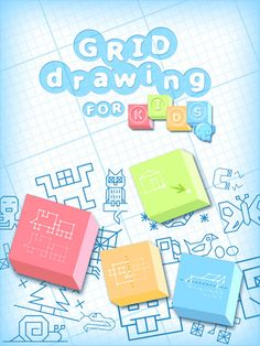 """With a sheet of paper, a grid and a template, your children will be able to draw more than 120 drawings (60 on the iPhone).    Copying a drawing is not as easy as you think, it takes a lot of concentration and attention to the children.    While playing copying the templates, your children will exercise their observation and their logical skills with the game modes """"copy"""", """"move"""" and """"symmetries"""", with 2 levels of difficulty (only one on iPhone)."""