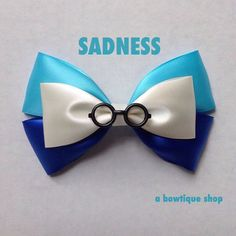sadness  hair bow by abowtiqueshop on Etsy inside out